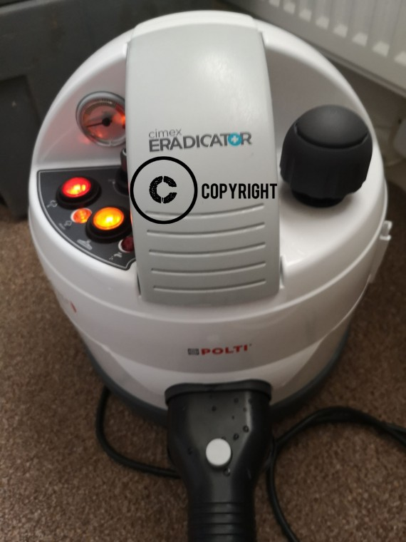 We use a Bed Bug steamer which uses super heated steam at 180 degrees and kills all bed bugs and eggs and its non toxic.